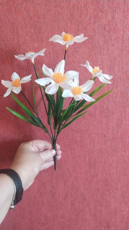 Цветы искусственные букет нарциссы