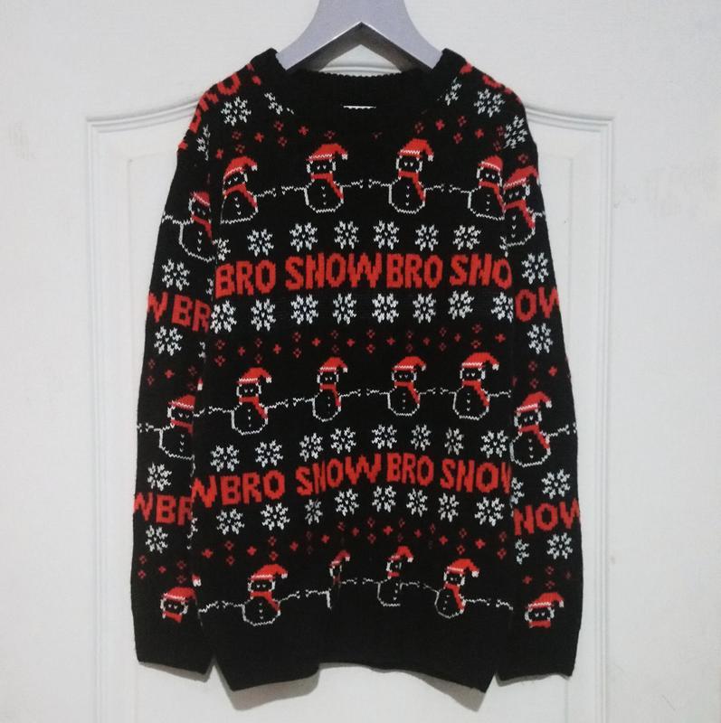 Новогодний свитер снежный брат