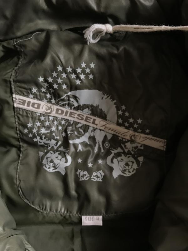 Пуховик зимний стильный модный дорогой бренд diesel размер m - Фото 3