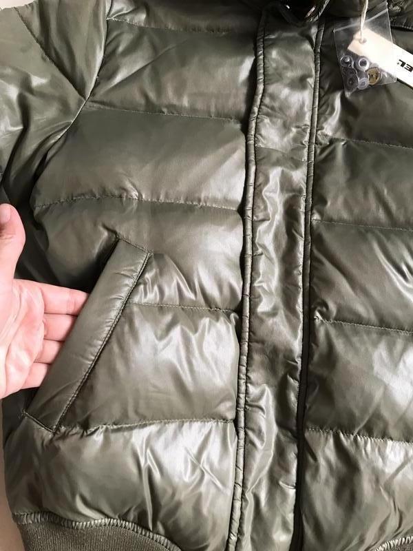 Пуховик зимний стильный модный дорогой бренд diesel размер m - Фото 6