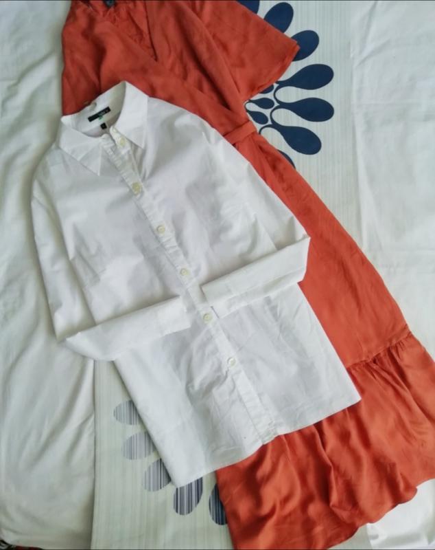Белая рубашка классическая туника туніка біла сорочка класичка...