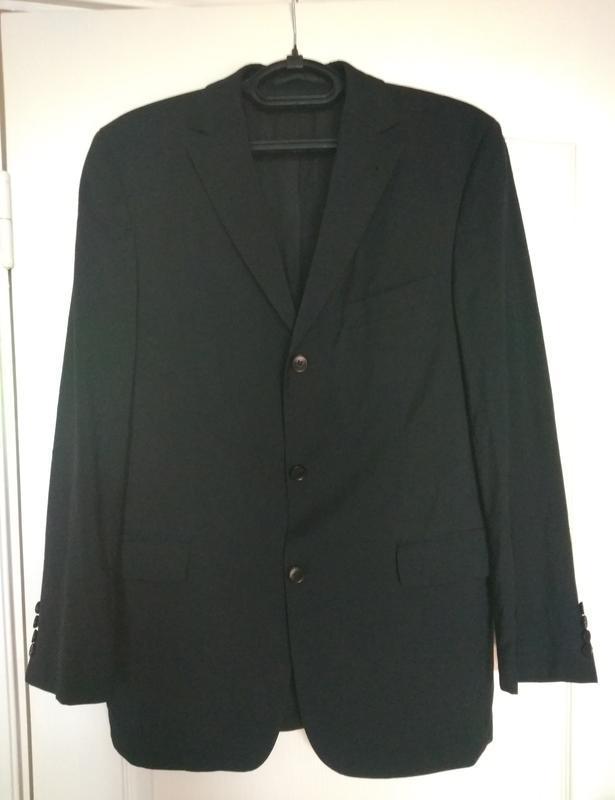 Пиджак с мужского плеча 💯% тонкая шерсть  размер 50(it)
