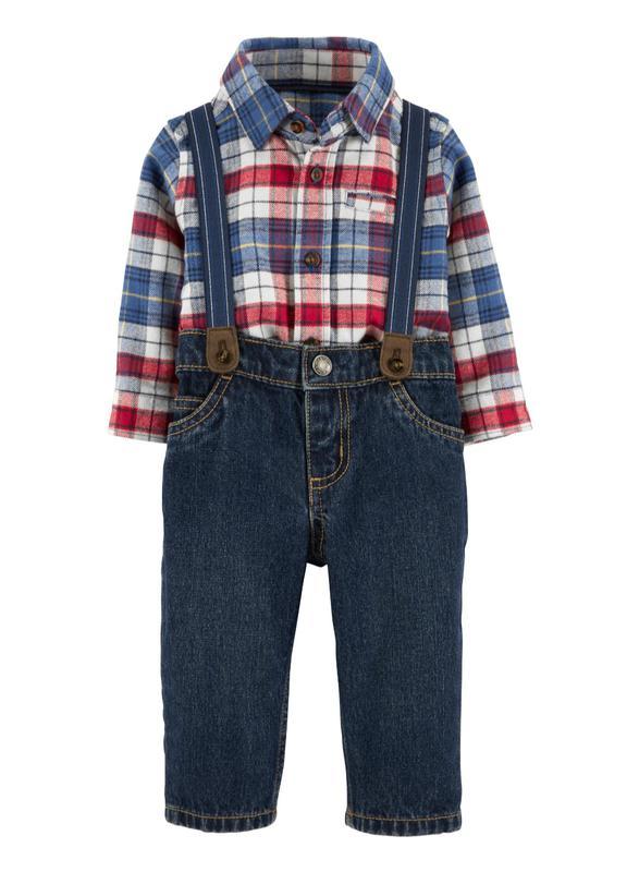 Детский комплект, бодик и джинсы, на 18 месяцев, Carters, новый
