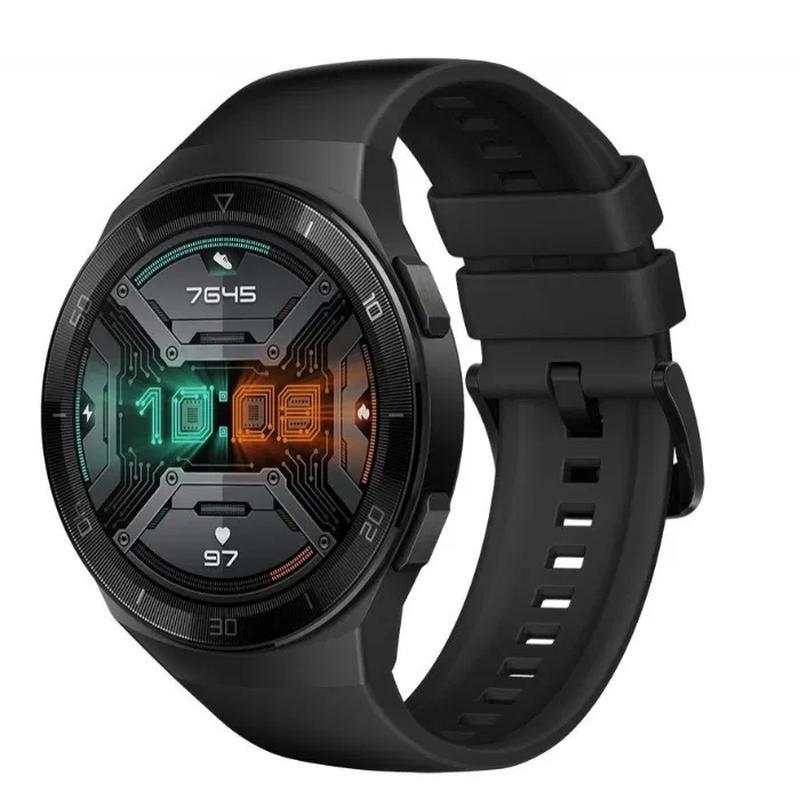 Продам смарт-часы Huawei Watch GT 2e (46 mm), цвет Black/Mint/Red - Фото 5