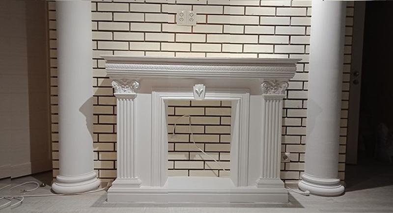 Гипсовый камин, портал для камина, фальш камин КР16