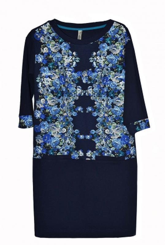 Дизайнерское платье прямого кроя с цветочным принтом от андре ...