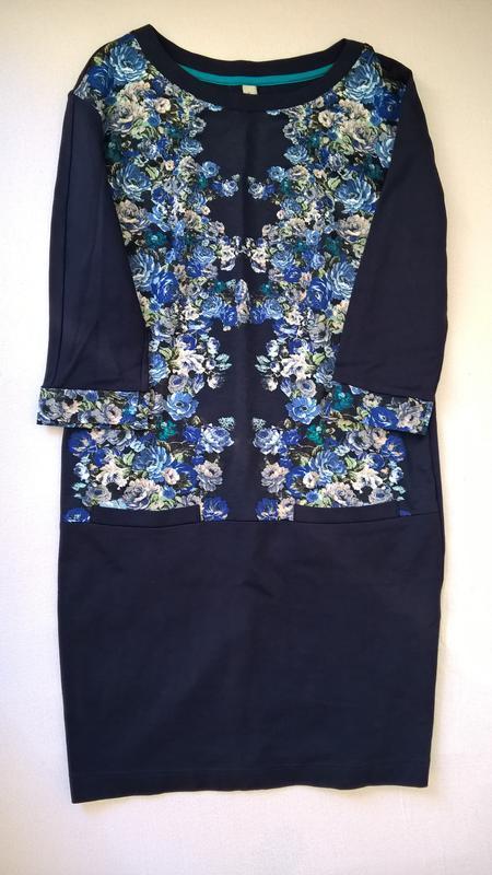 Дизайнерское платье прямого кроя с цветочным принтом от андре ... - Фото 3