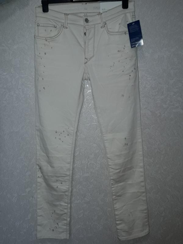 """Мужские джинсы с модным эффектом """"брызг"""" the slim c&a"""