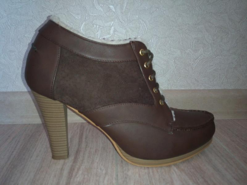 Демисезонные ботинки на каблуке oodji