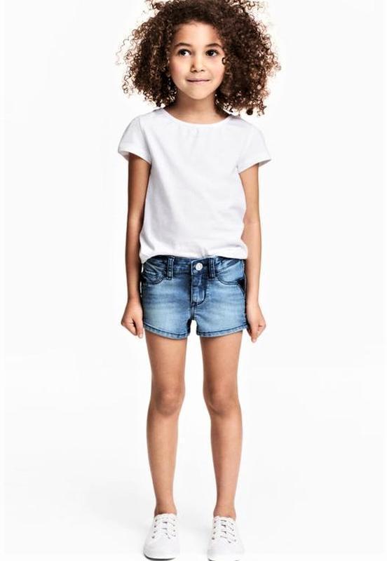 Джинсовые шорты на девочку 3-4 года h&m