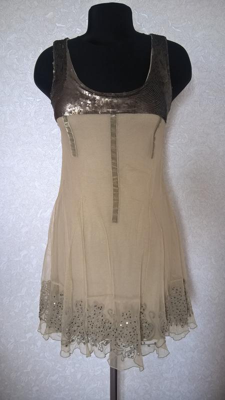 Платье с декорированной вышивкой пайетки phard