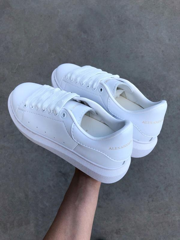 Кроссовки женские mcqueen  all white - Фото 8