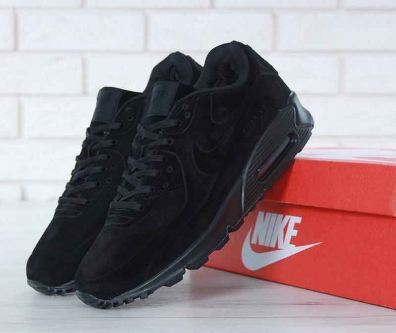 Мужские зимние кроссовки найк nike air max 90 vt fur black.