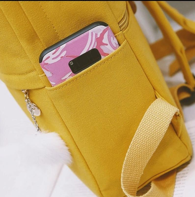 Яркий текстильный молодёжный тканевый рюкзак 🎒 - Фото 6
