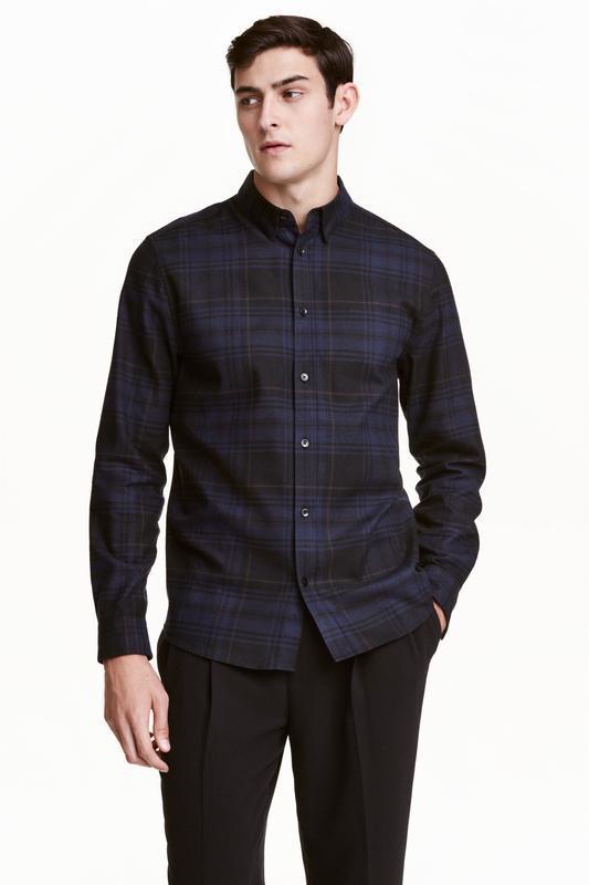 Клечатая фланелевая рубашка h&m, regular fit !