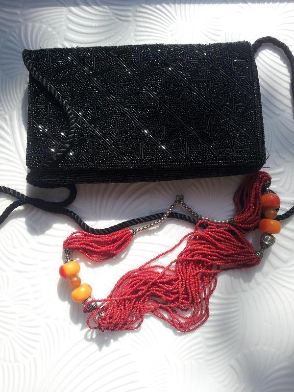 Винтаж женская сумка-клатч бисер