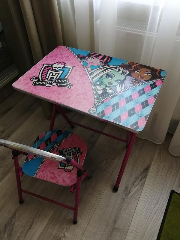 Стол и стул для дошкольников складной