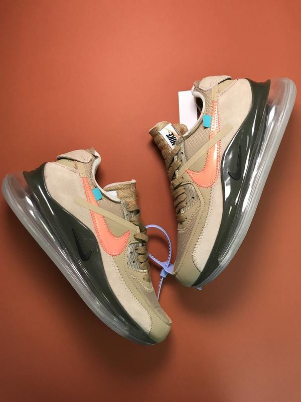 Кроссовки nike air max 720 off-white green