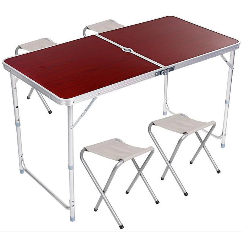 Стол для пикника, раскладной, с 4 стульями