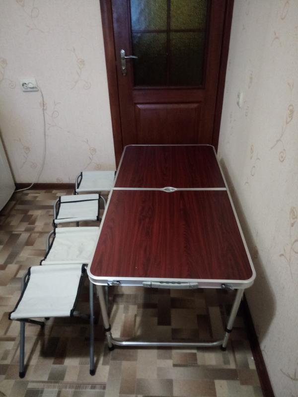 Стол для пикника, раскладной, с 4 стульями - Фото 6