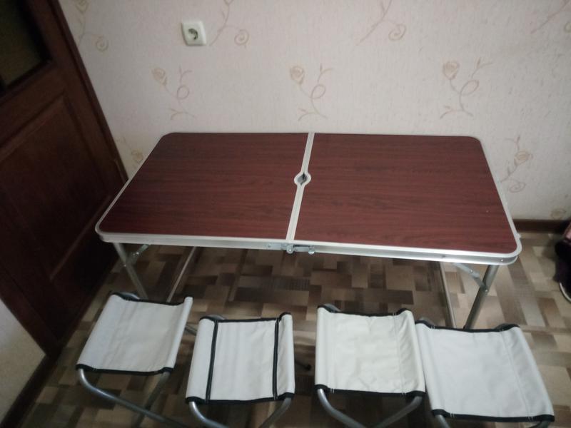 Стол для пикника, раскладной, с 4 стульями - Фото 8