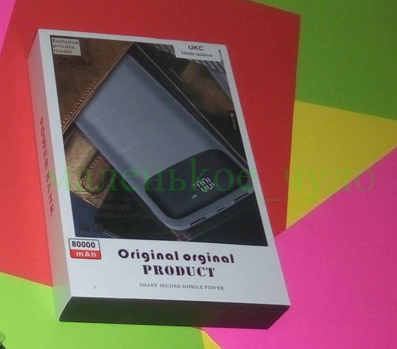 Мобильная зарядка Power Bank Z081 реал. емкость 9600 ПоверБанк 27 - Фото 4