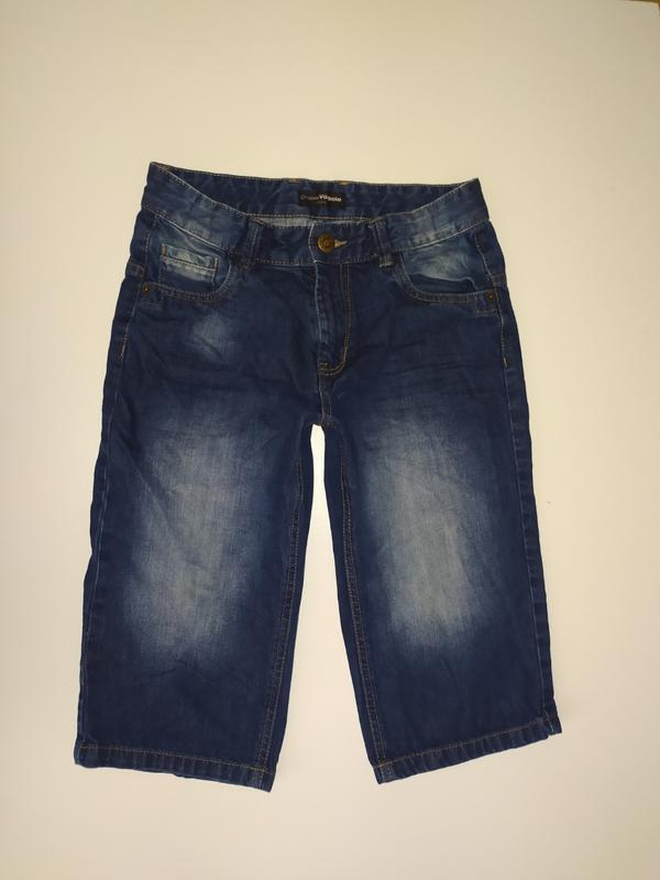 Шорты бриджи джинсовые