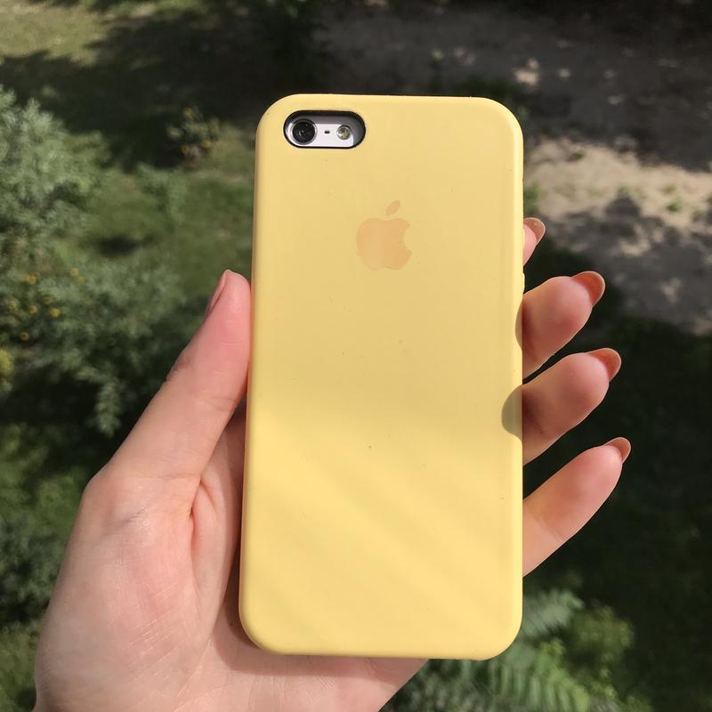 Чехол на айфон iPhone 5/5S/SE Silicon Case Yellow Желтый Силикон - Фото 6