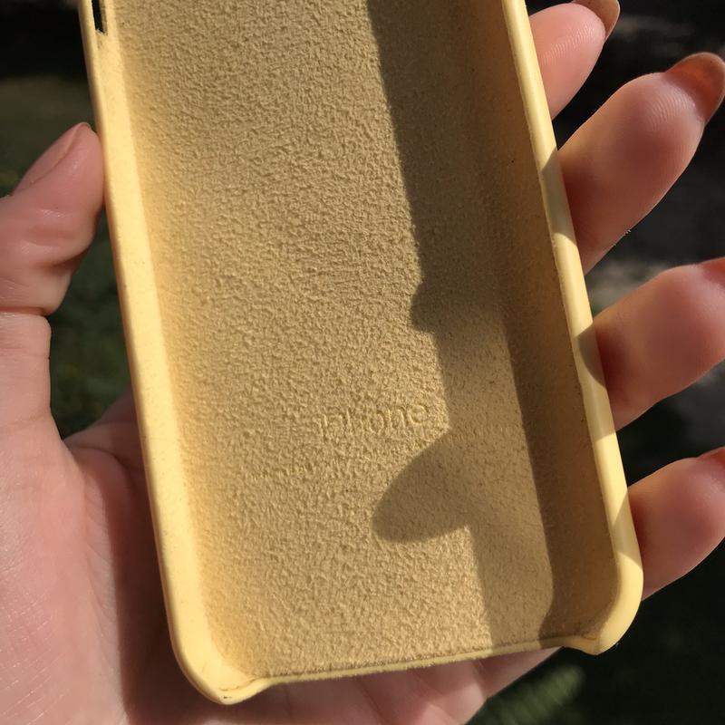 Чехол на айфон iPhone 5/5S/SE Silicon Case Yellow Желтый Силикон - Фото 5
