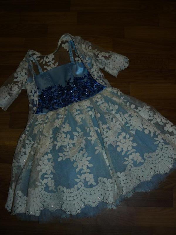 Невероятное,нарядное платье на принцессу 110-116см - Фото 2