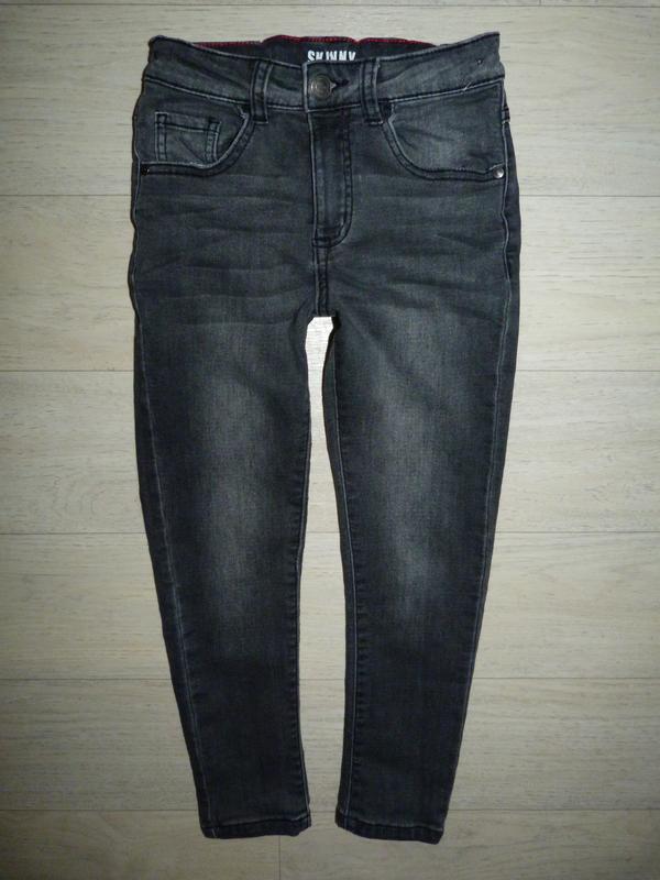 Серые джинсы, скинни george 6-7 лет
