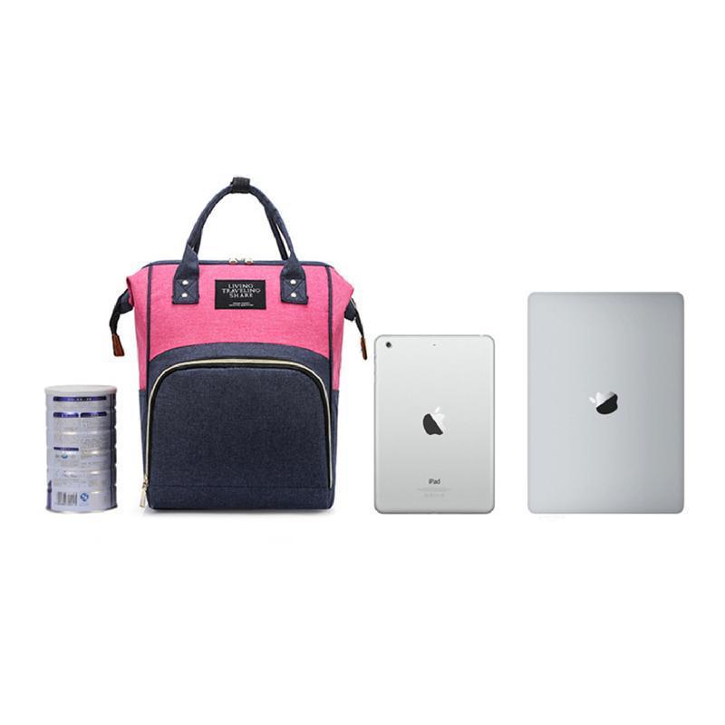 Сумка-рюкзак, мама-сумка. розово-синий. - Фото 2