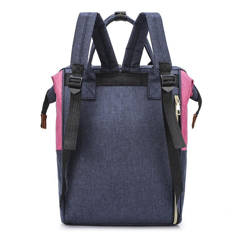 Сумка-рюкзак, мама-сумка. розово-синий. - Фото 3