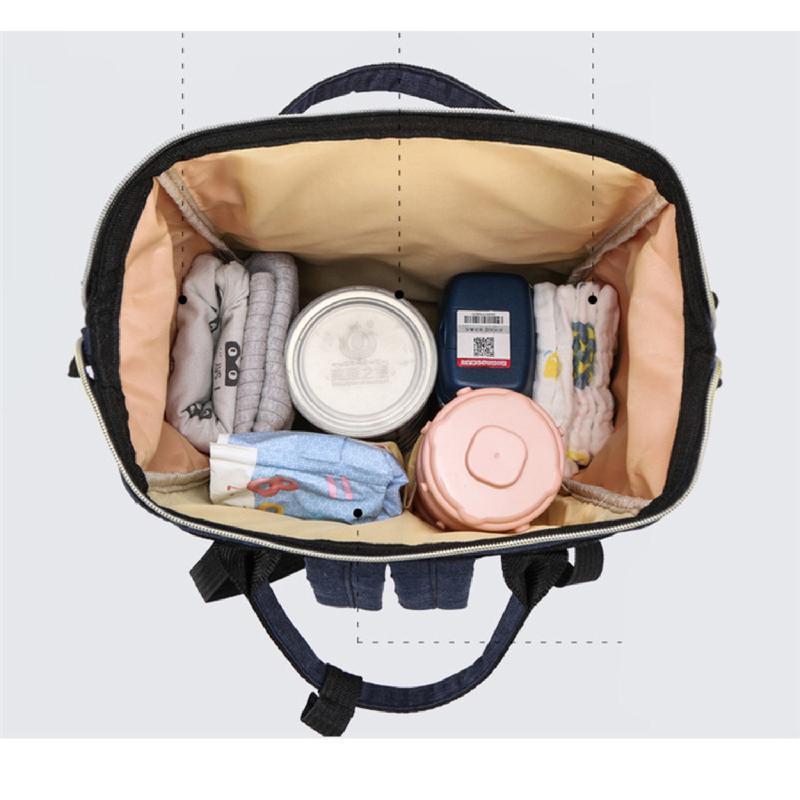 Сумка-рюкзак, мама-сумка. розово-синий. - Фото 6