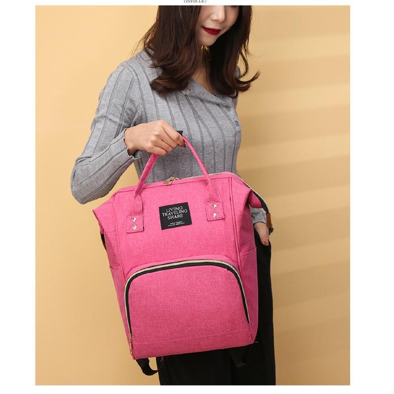 Сумка-рюкзак, мама-сумка. розово-синий. - Фото 10