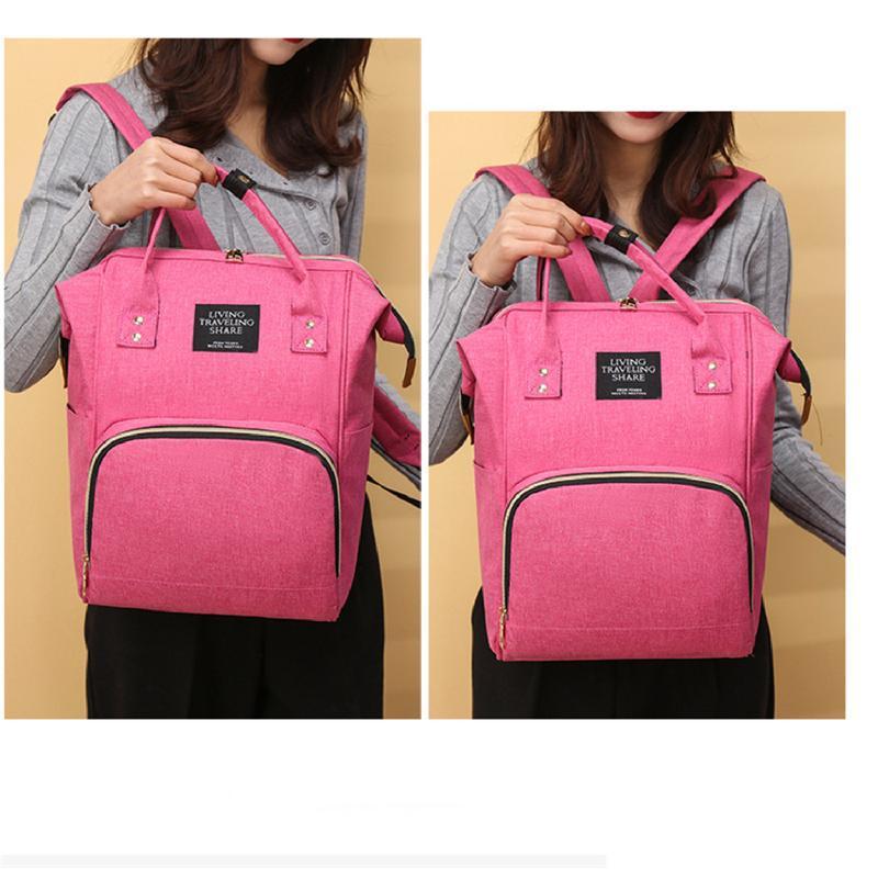 Сумка-рюкзак, мама-сумка. розово-синий. - Фото 11