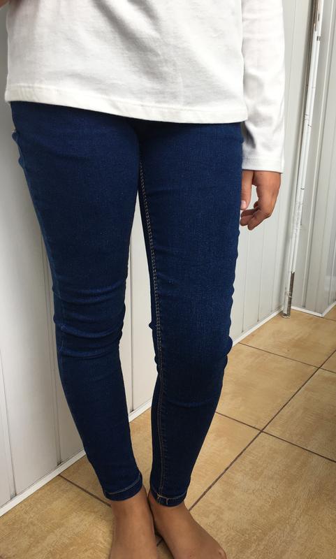 Классные джинсы скини на девочку 8-9 лет, denimco.