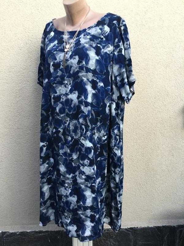 Новое платье,туника большого размера,батал,цветочный принт,вис...