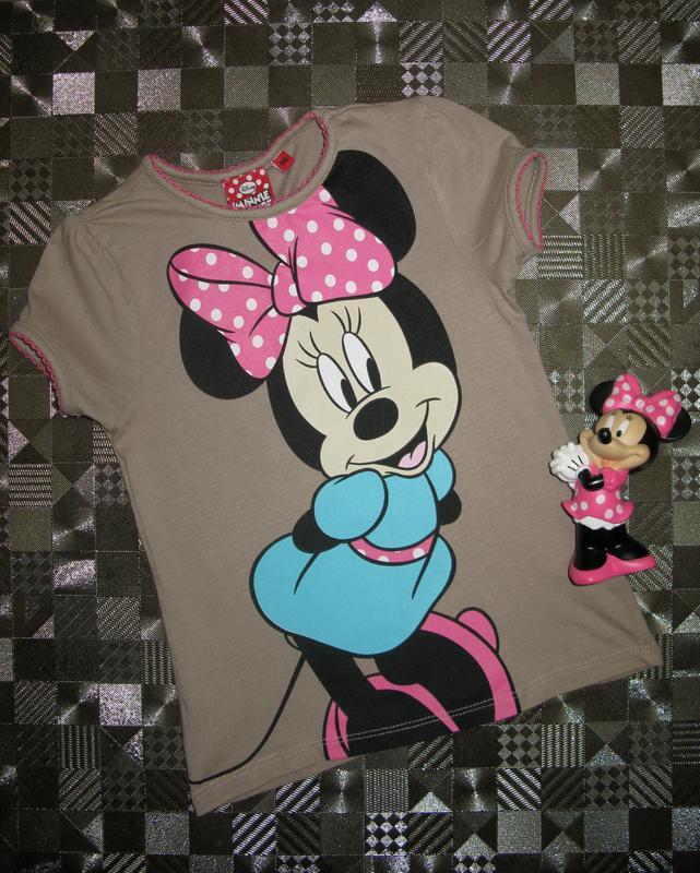 Хлопковая футболка disney minnie mouse  минни маус р.98