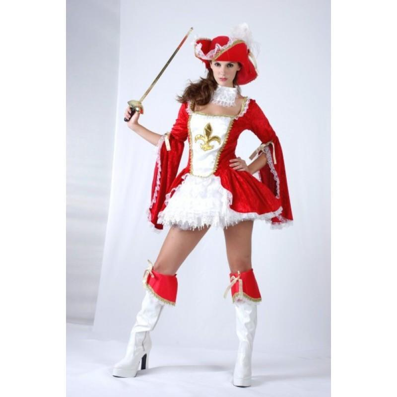 Секси-платье королевы мушкетеров - ролевые игры косплей маскарад