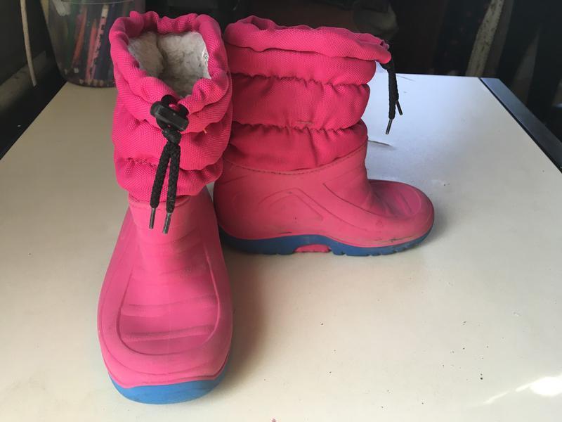 Продам утепленные сапоги на девочку, размер 27, 28