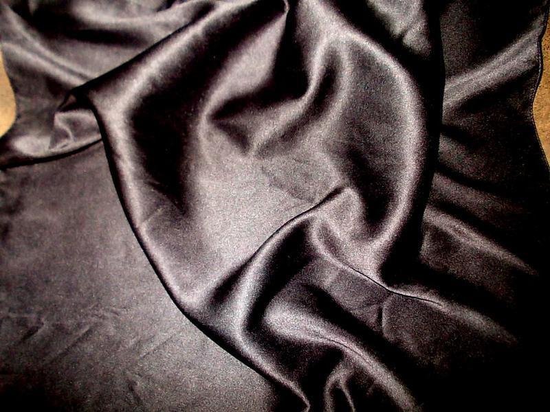 Платок маленький 52х52см черный цвет