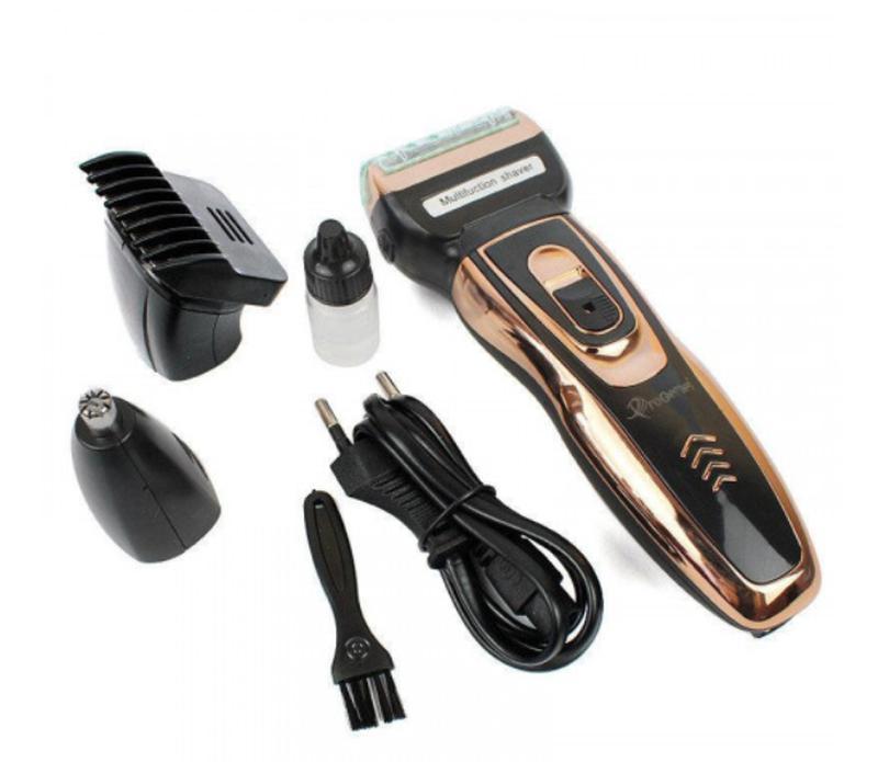 Мужской триммер бритва аккумуляторная для стрижки волос и бороды - Фото 4