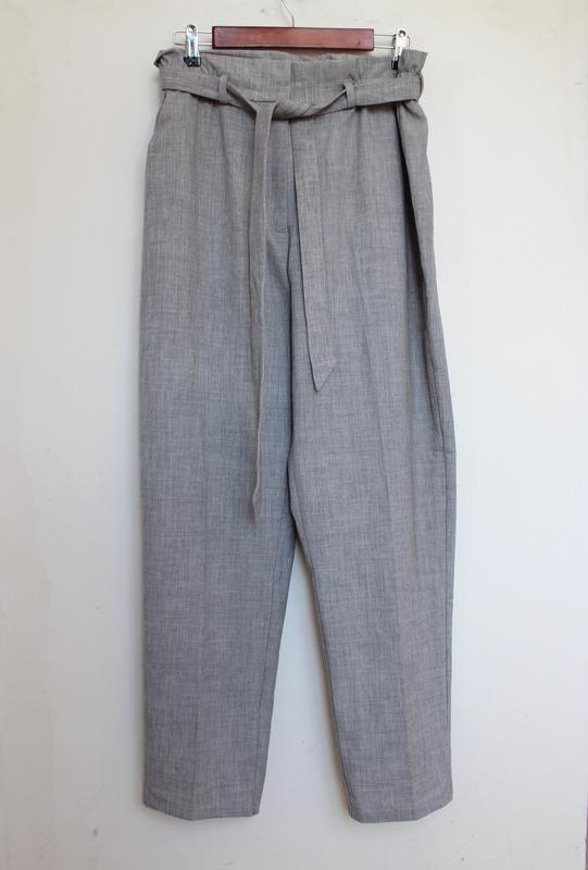 H&m новые брюки штаны с поясом высокой посадкой вискоза zara asos