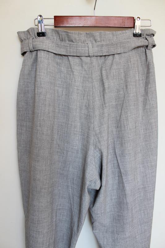 H&m новые брюки штаны с поясом высокой посадкой вискоза zara asos - Фото 2