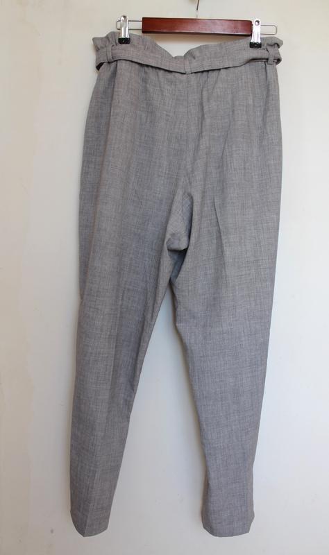 H&m новые брюки штаны с поясом высокой посадкой вискоза zara asos - Фото 4