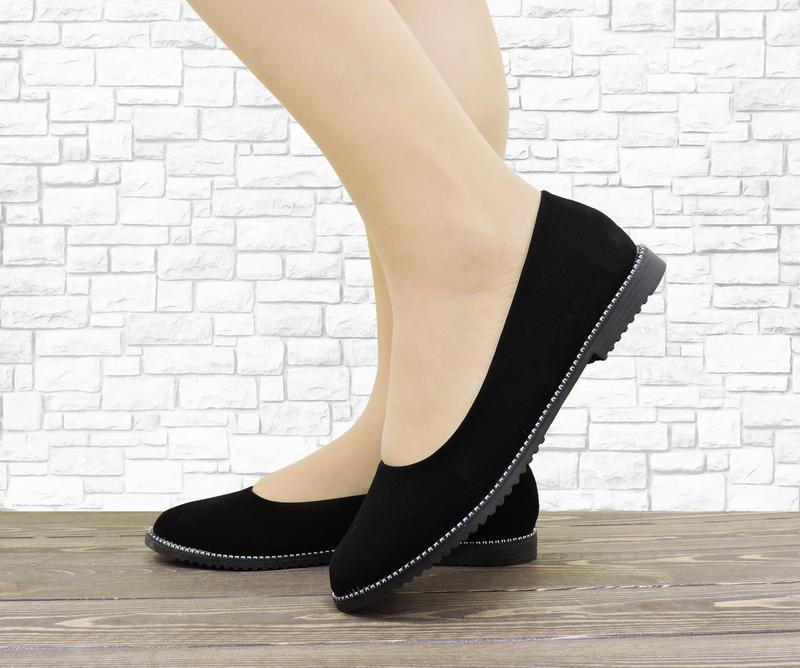 Женские балетки soft черные