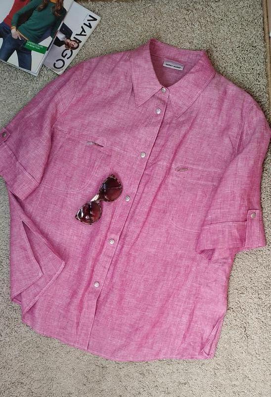 Gerri  weber оригинал крутая льняная блузка/рубашка большого р...