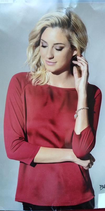 Комбинированная блуза кофта blue motion l 44 46 германия красная