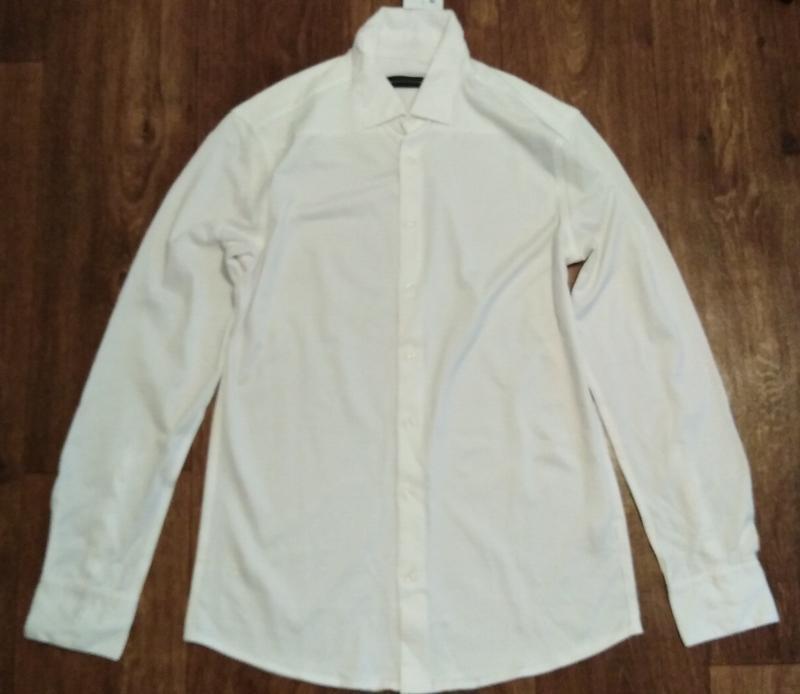 Рубашка из мерсеризованного хлопка р. 39 от дизайнера steffen ... - Фото 4